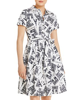 KARL LAGERFELD PARIS - Printed Shirt Dress
