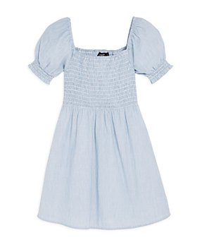 AQUA - Girls' Smocked Pinstripe Dress - Big Kid