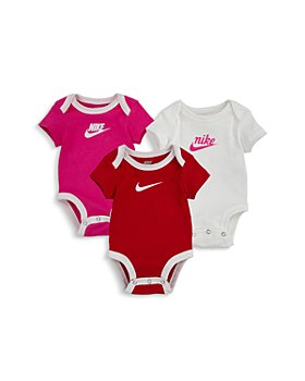 Nike - Girls' Logo Bodysuits, 3 Pack - Baby