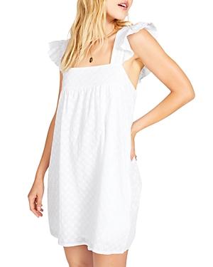 Cotton Flutter Sleeve Mini Dress