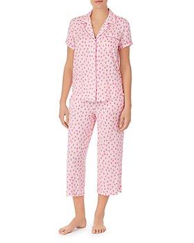 kate spade new york - Floral Print Cropped Pajama Set