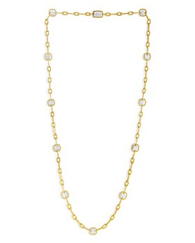 """Roberto Coin - 18K Yellow Gold New Barocco Diamond Station Necklace, 32"""""""
