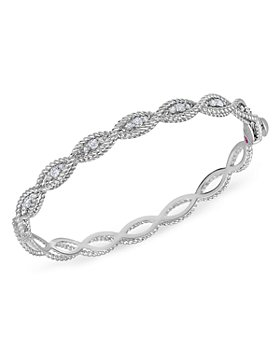 Roberto Coin - 18K White Gold New Barocco Diamond Bangle Bracelet