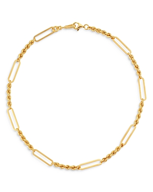18K Gold-Plated Victoria Twisted Link Necklace