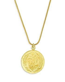 """Maison Irem - Coin Pendant Necklace, 16-18"""""""