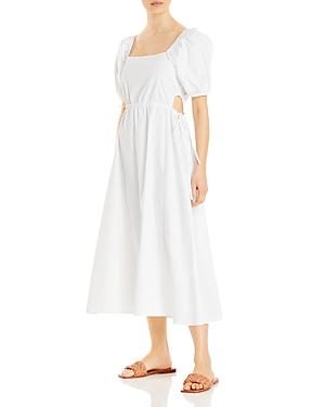 Poplin Side Tied Cut-Out Dress (61% off)