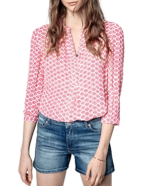 Zadig & Voltaire TADE EYES PRINT BLOUSE