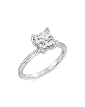 Bloomingdale's - Certified Princess-Cut Diamond StarBloom™ Engagement Ring in 14K White Gold, 1.0 ct. t.w. - 100% Exclusive