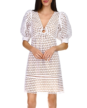Michael Michael Kors Geo Eyelet Mini Dress