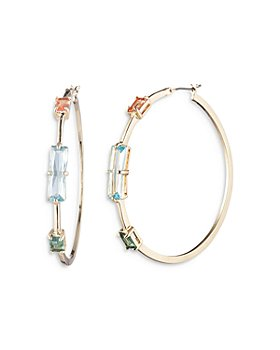 Ralph Lauren - Multi Stone Hoop Earrings