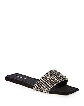 Alexander Wang - Women's Anya Embellished Slip On Leather Sandals