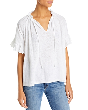 Butterfly Peasant Top