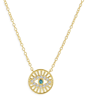 Bloomingdale's Diamond Evil Eye Medallion Necklace in 14K Yellow Gold, 0.15 ct. t.w. - 100% Exclusiv