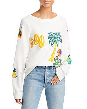 MOTHER - The Square Multi Motif Graphic Sweatshirt