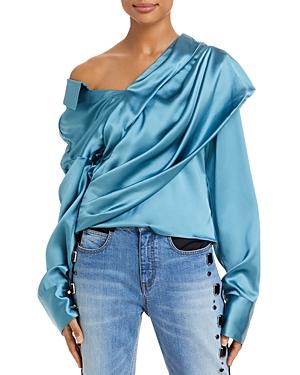 Halsey Asymmetric Silk Top