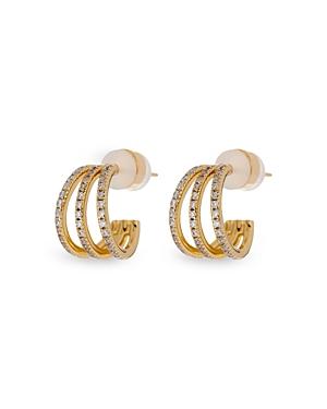 Baby Bastille Pave Hoop Earrings