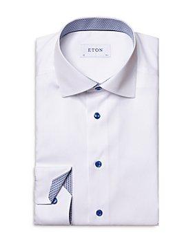Eton - Cotton Solid Convertible Cuff Slim Fit Dress Shirt