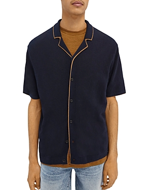 Scotch & Soda Knit Regular Fit Camp Shirt