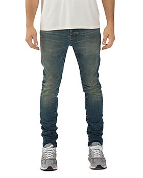 Purple Brand - Skinny Fit Jeans in Tinted Mid Indigo