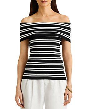 Ralph Lauren - Striped Off The Shoulder Top