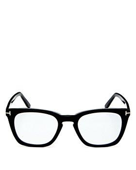 Tom Ford - Men's Square Blue Light Glasses, 50mm