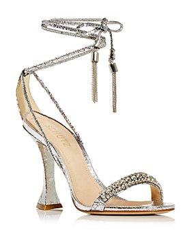 SCHUTZ - Women's Bellin Embellished Ankle Tie High Heel Sandals