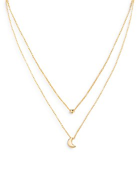 """AQUA - Star & Moon Layered Pendant Necklace in 18K Gold Plate, 16.25-18"""" - 100% Exclusive"""