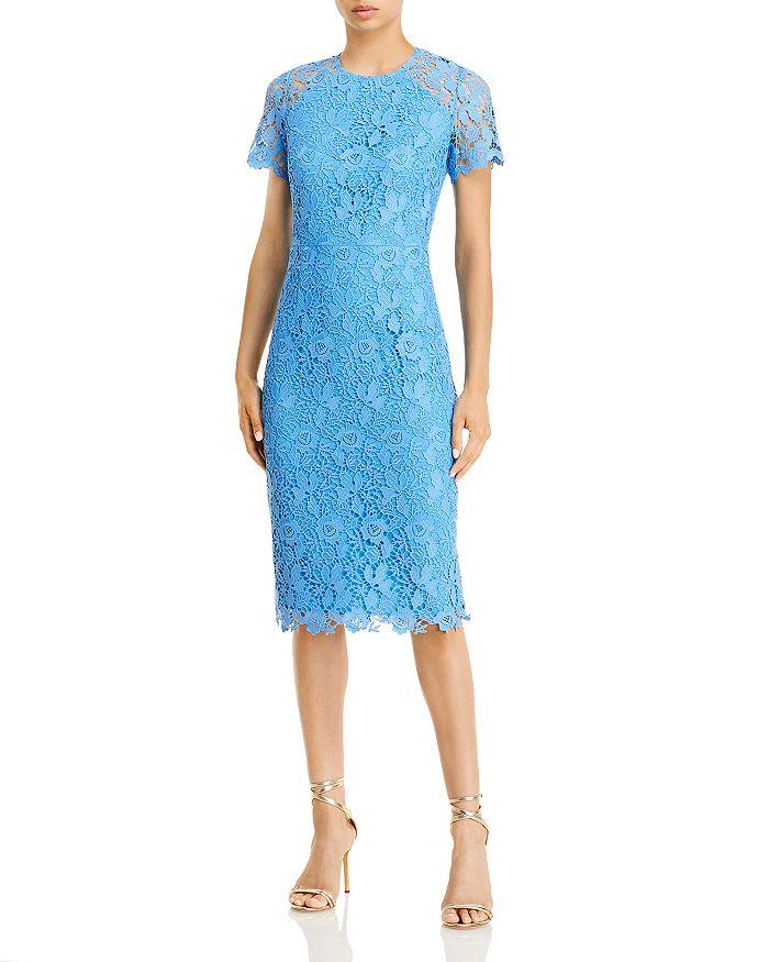 Eliza J - Illusion Sleeve Lace Sheath Dress