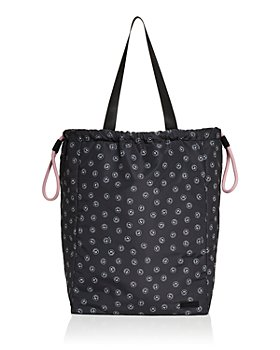GANNI - Recycled Smiley Face Print Tote Bag