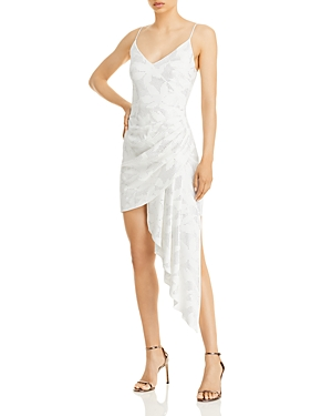 Draped Studded Mini Dress