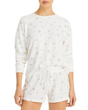AQUA - Star Print Shorts Pajama Set