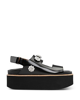 GANNI - Women's Polido Embellished Slingback Platform Sandals