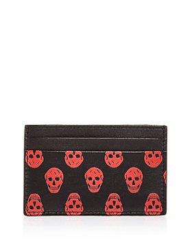 Alexander McQUEEN - Skull Print Leather Card Case