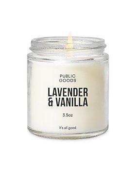 Public Goods - Lavender & Vanilla Scented Candle