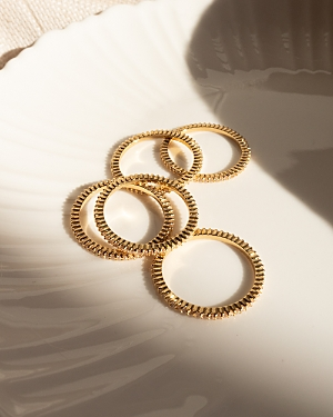 Classique Pave Band Rings in Gold Tone