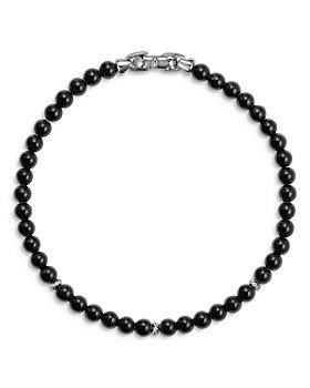 David Yurman - Sterling Silver Spiritual Beads Bracelet with Black Onyx