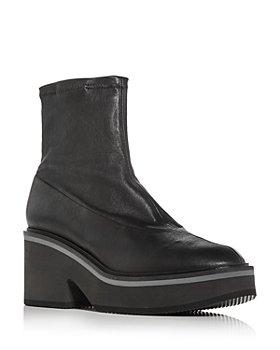 Clergerie - Women's Albane High Heel Platform Wedge Booties