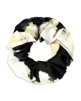 GANNI - Abstract Print Stretch Silk Scrunchie