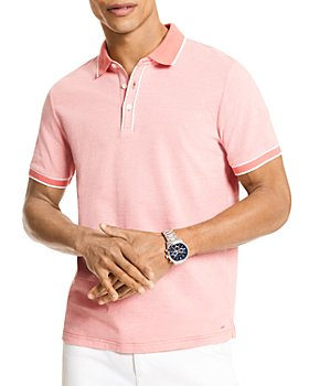 Michael Kors - Tipped Texture Modern Fit Polo Shirt