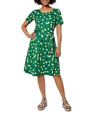 Giselle Printed Fit And Flare Dress