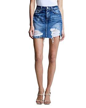 L'AGENCE - Jolene Denim Mini Skirt in Newberry