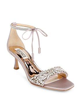 Badgley Mischka - Women's Blossom Ankle Tie Embellished Sandals