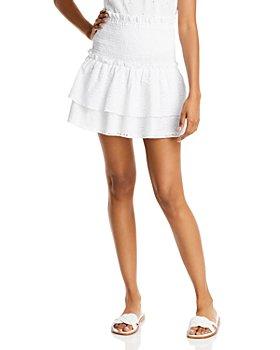 AQUA - Eyelet Smocked Mini Skirt - 100% Exclusive