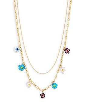 "AQUA - Layered Bead Necklace, 17.5"" - 100% Exclusive"