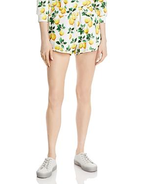 Britt Lemon Print Drawstring Shorts