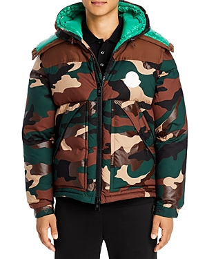 Moncler Cavet Convertible Camo Print Jacket