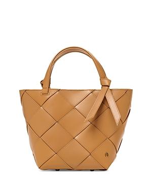 Ella Small Woven Leather Satchel