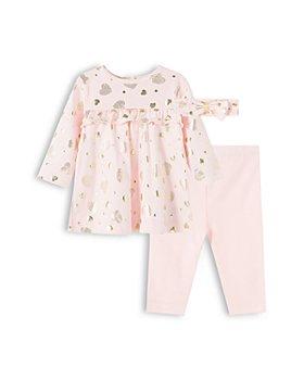 Little Me - Girls' Cotton Hearts Tunic, Pants & Headband Set - Baby