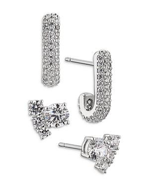 Nadri Frost Earrings, Set of 3
