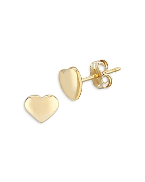 Bloomingdale's Heart Studs in 14K Yellow Gold - 100% Exclusive